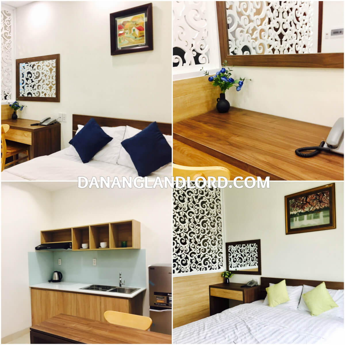 Studio 1 bedroom apartment for rent pham van dong beach for One room studio apartment