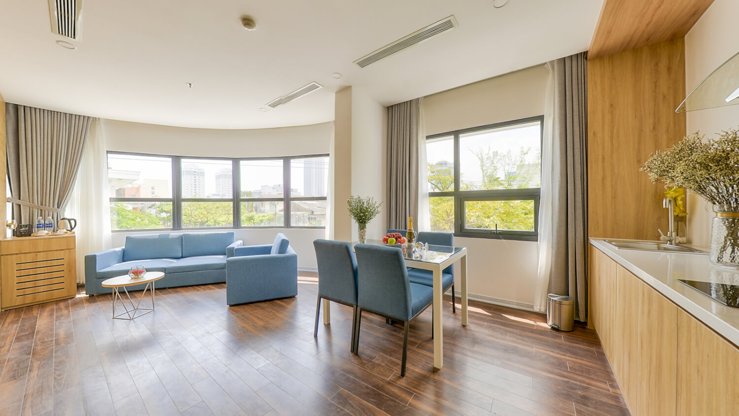Beautiful one bedroom apartment in city center – 3109
