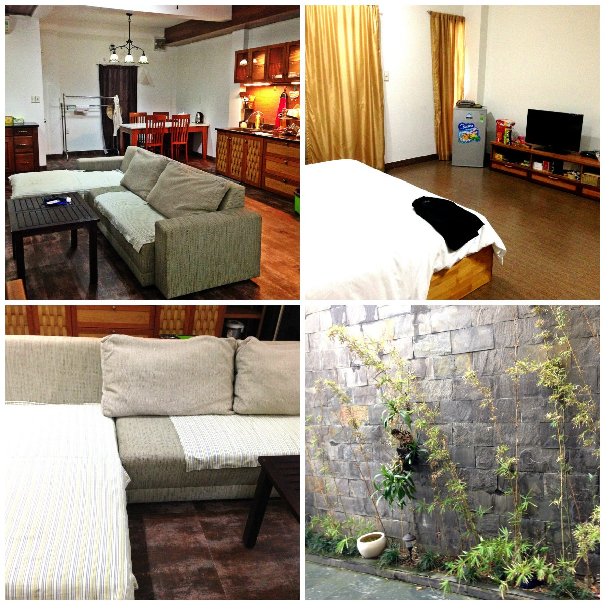 1 bedroom apartment for rent in An Thuong area, modern interior