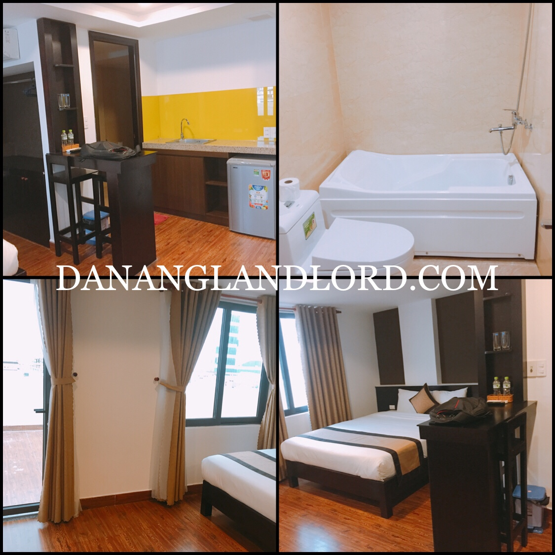 Studio apartment for rent in An Thuong area, big windows