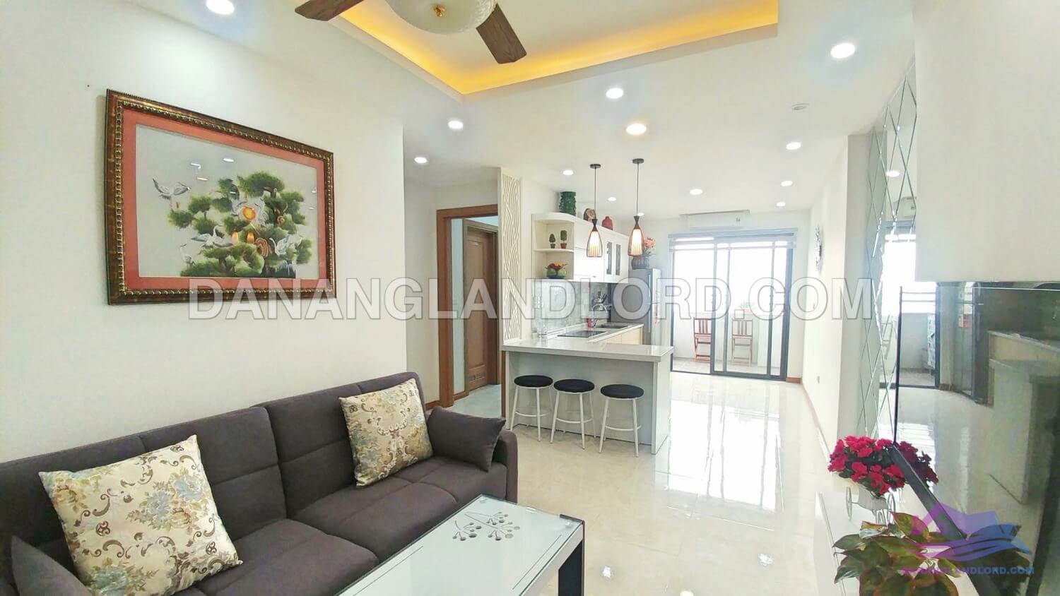 Two bedrooms apartment with sea view in Muong Thanh building – AT44