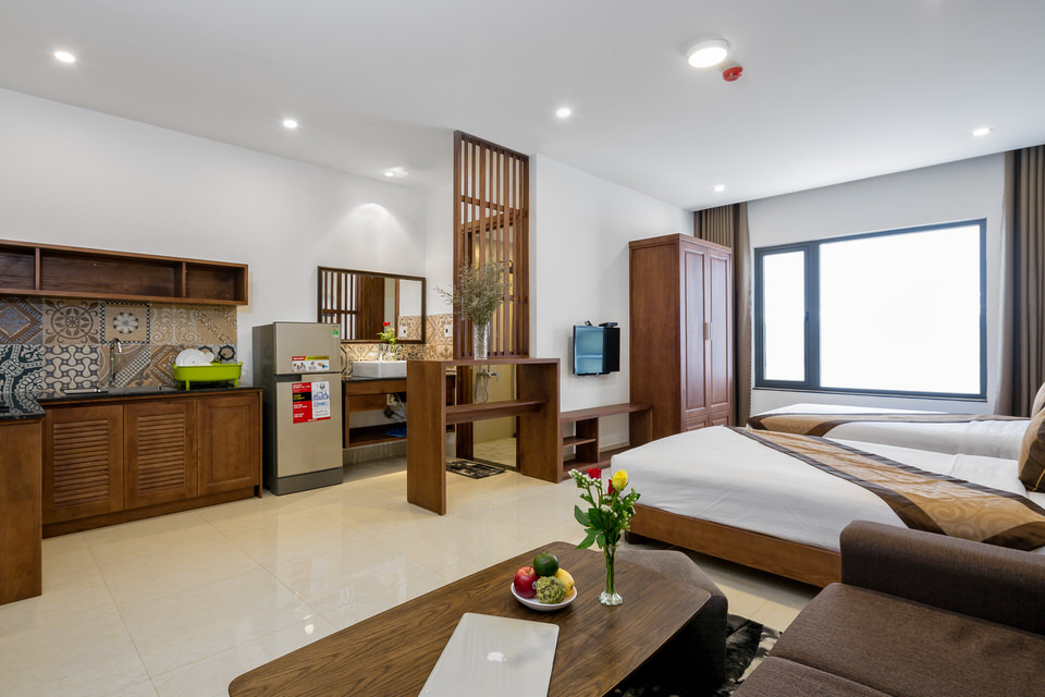 Studio Apartment With 2 Beds For Rent In An Thuong – A475