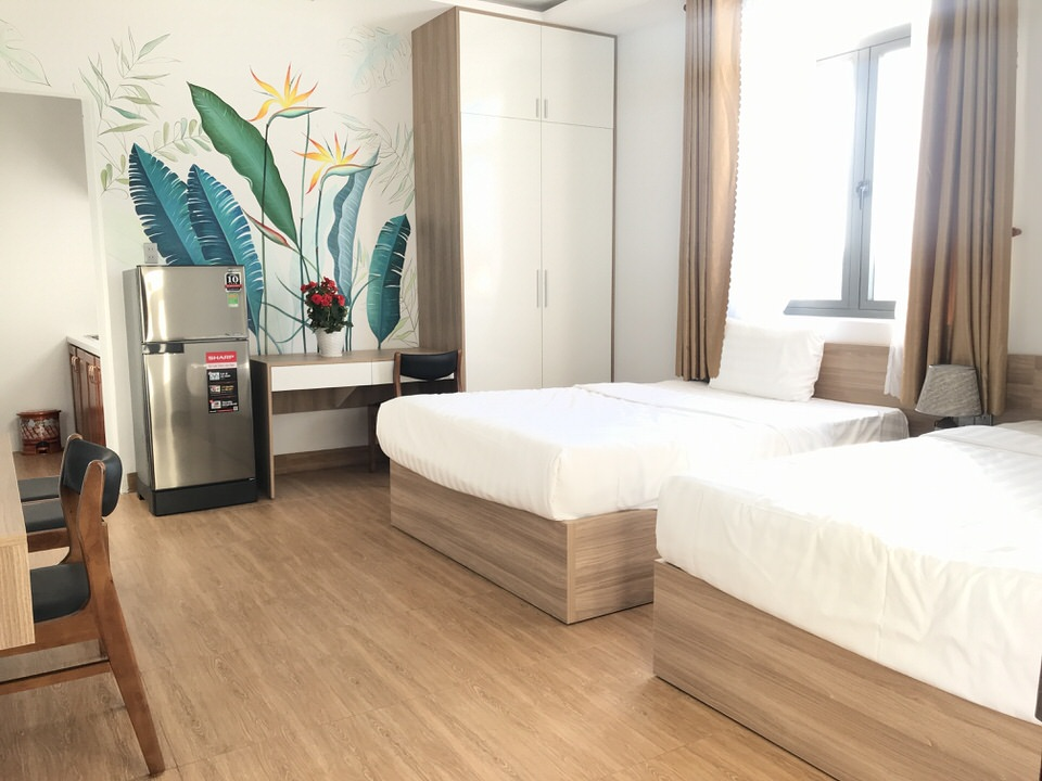 Studio apartment, 2 beds, swimming pool near Nguyen Cong Tru Street –  A800