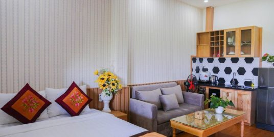 Studio apartment, large balcony, near Lotte Mart – A378